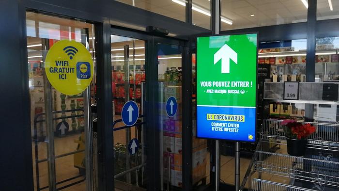 Lidl installe un portier digital pour réguler le nombre de clients dans ses magasins
