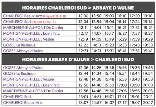 La navette estivale du TEC Charleroi vers l'Abbaye d'Aulne est de retour !