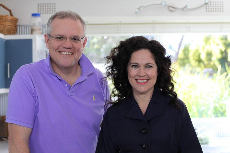 Scott Morrison & Annabel Crabb
