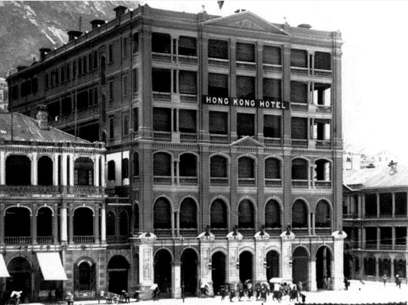The Hong Kong Hotel at the time of its opening in 1868