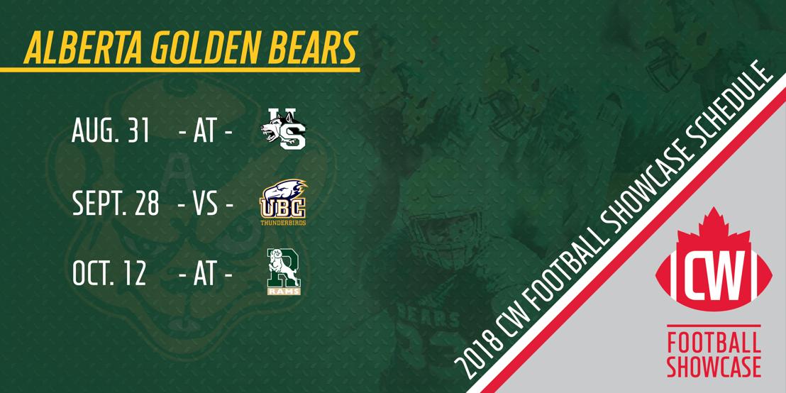 2018 Alberta Golden Bears CW Football Showcase schedule