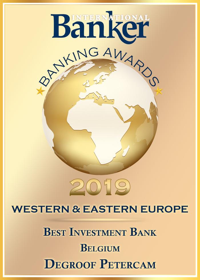 Preview: La revue International Banker nomme Degroof Petercam Meilleure banque d'investissement en Belgique