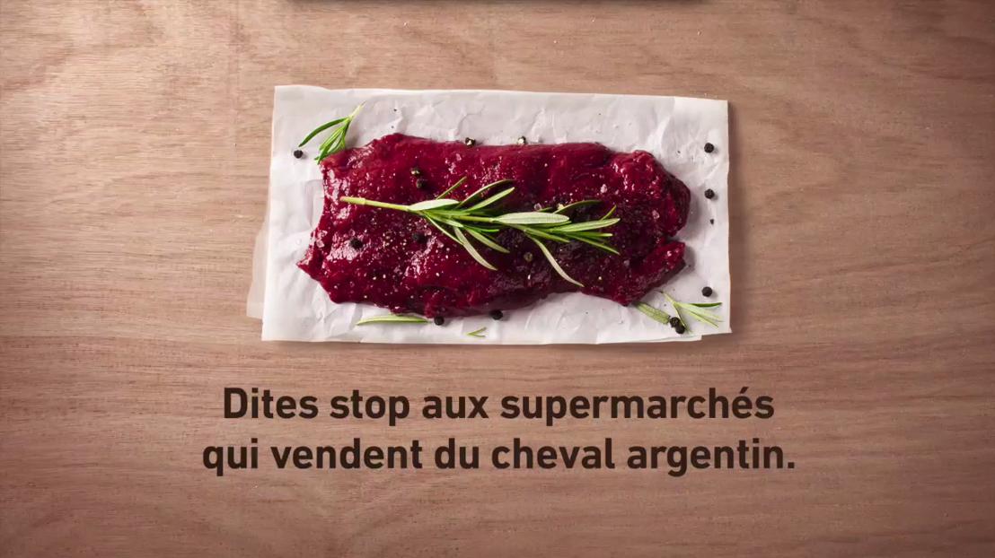 GAIA lance un spot TV contre la viande chevaline en provenance d'Argentine