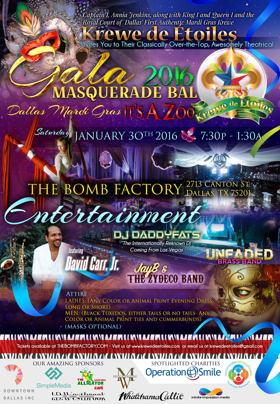 Krewe de Etoiles Presents the First Authentic Mardi Gras Gala Masquerade Bal in Dallas