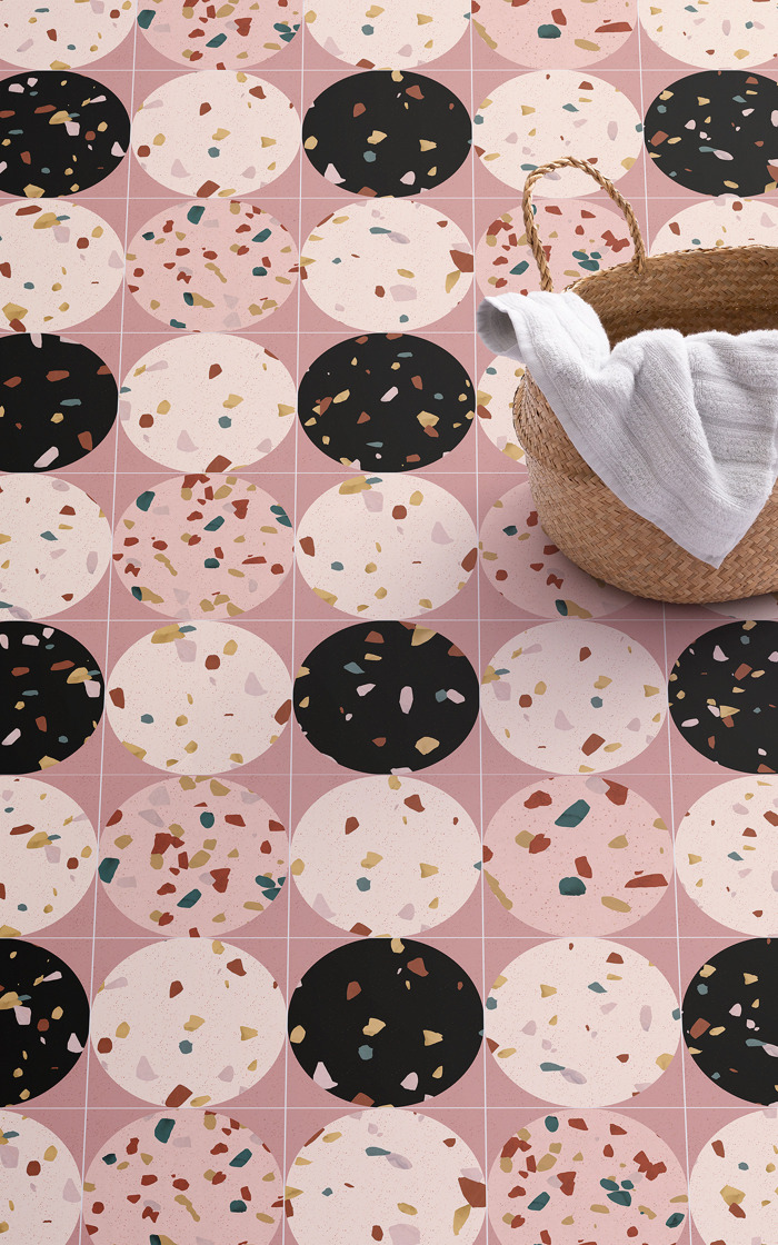 Taking terrazzo flooring to a trendy new place