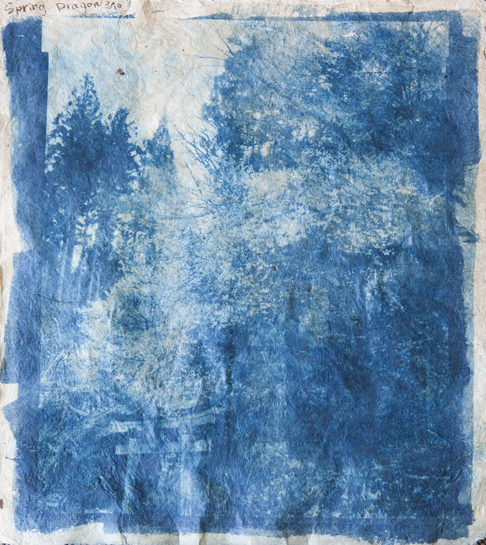 Mika Horie, Untitled, 2017. Cyanotype on handmade gampi japanese paper