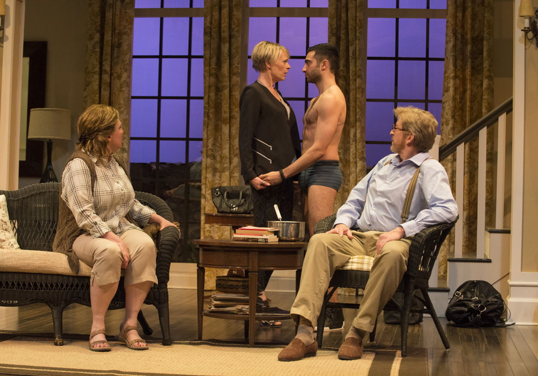 Deborah Williams, Brenda Robins, Lee Majdoub and R.H. Thomson in Vanya and Sonia and Masha and Spike by Christopher Durang / Photos by David Cooper