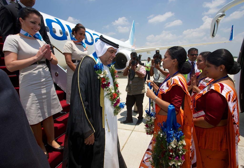 Welcoming ceremony at Mattala Rajapaksa International Airport