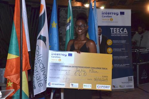 INTERREG TEECA : Sophie Klein gagne le 1er défi entrepreneurial caribéen