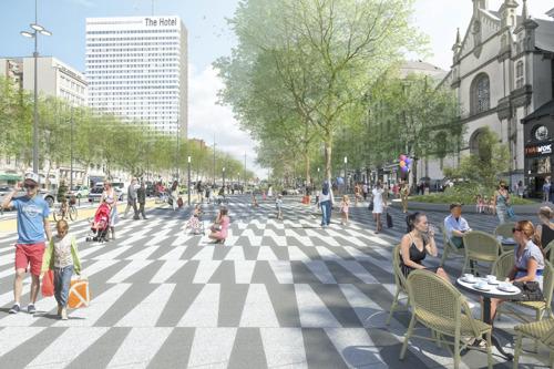 Gulden Vlieslaan en Waterloolaan: van stadssnelweg naar de Brusselse Champs Elysées