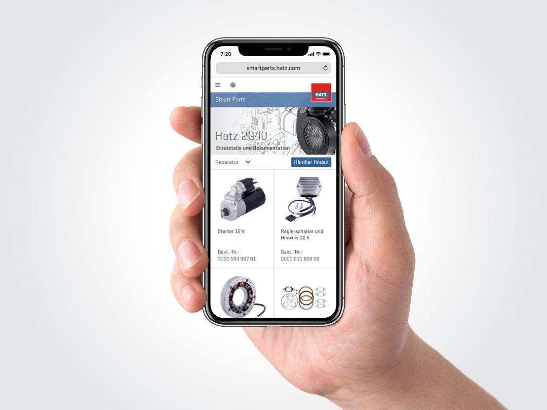 Hatz Smart Parts pour un accès partout dans le monde avec tous les smartphones modernes et ordinateurs-tablettes