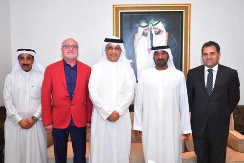 Ahmed bin Saeed receives dignitaries from the Asian Football Confederation