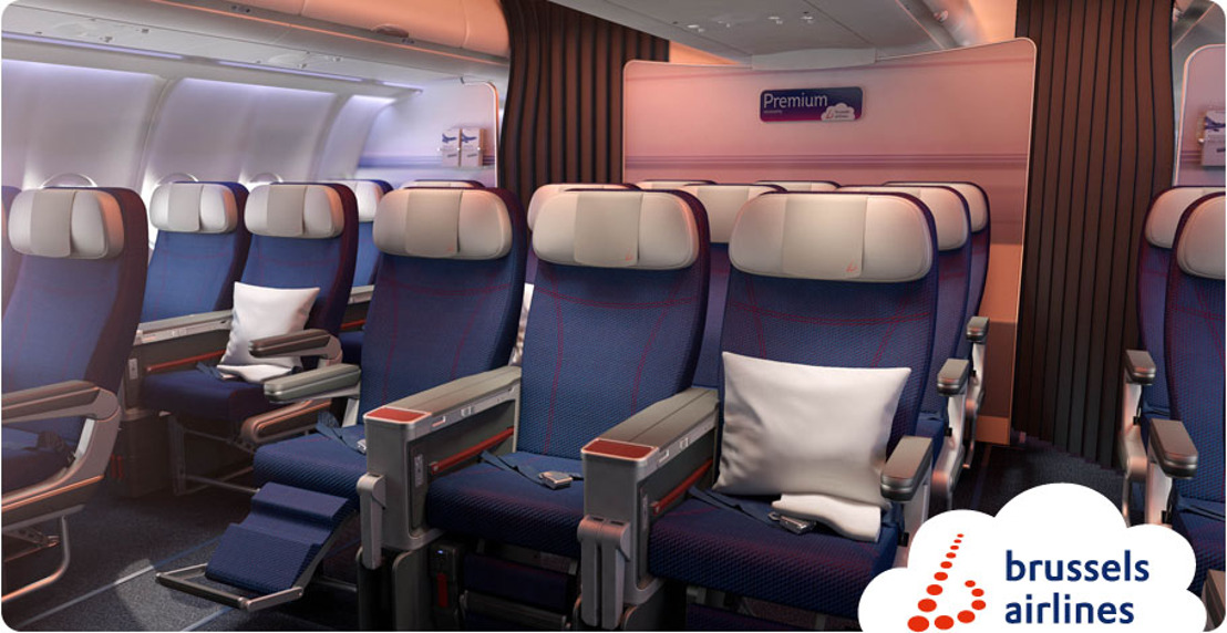 Brussels Airlines introduces its Premium Economy Class on its flights to/from Africa, the airline's most important market