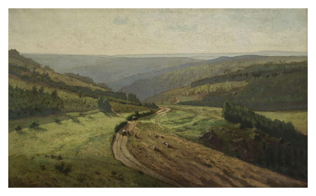 Alphonse Asselbergs, Ardeens landscape at Houffalize , M – Museum Leuven @ Isabelle Arthuis