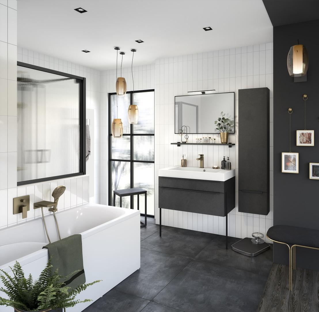 FACQ presenteert een ergonomische designbadkamer voor 2021 tijdens Batibouw