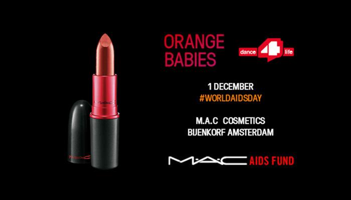 M.A.C Cosmetics, Orange Babies en dance 4 life bundelen krachten tegen strijd HIV & Aids