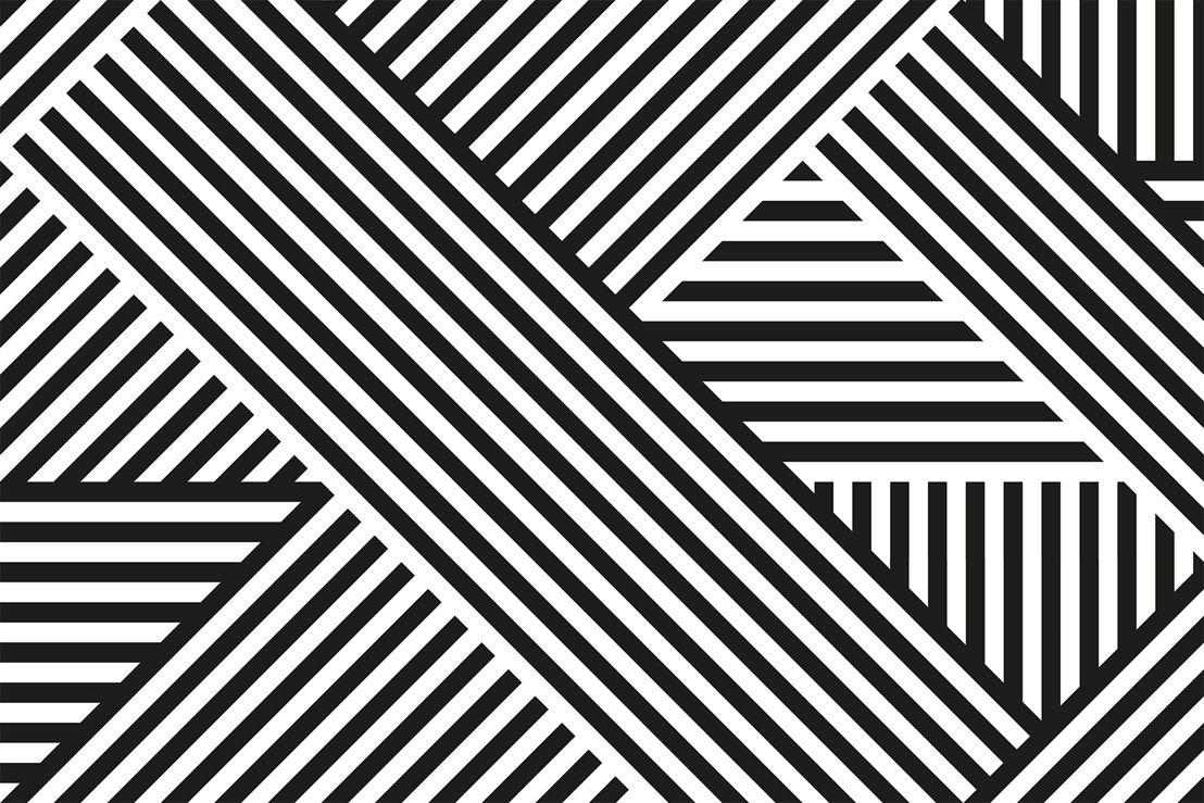 Divert Striped Geometric Mural - Swatch