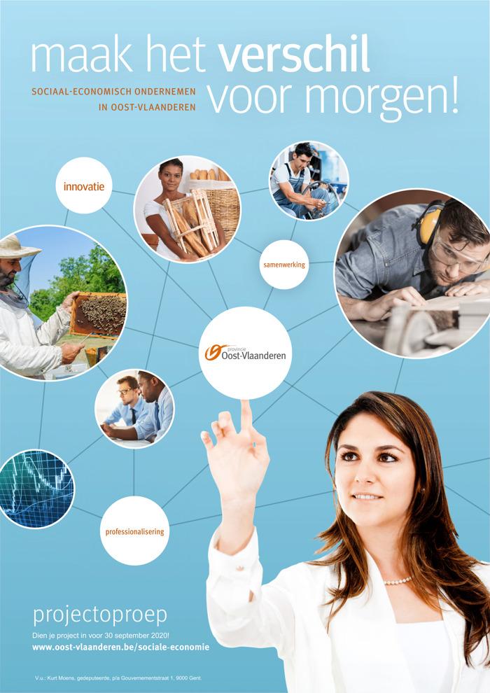 Provincie Oost-Vlaanderen geeft subsidies voor samenwerking tussen reguliere en sociale-economie-ondernemingen