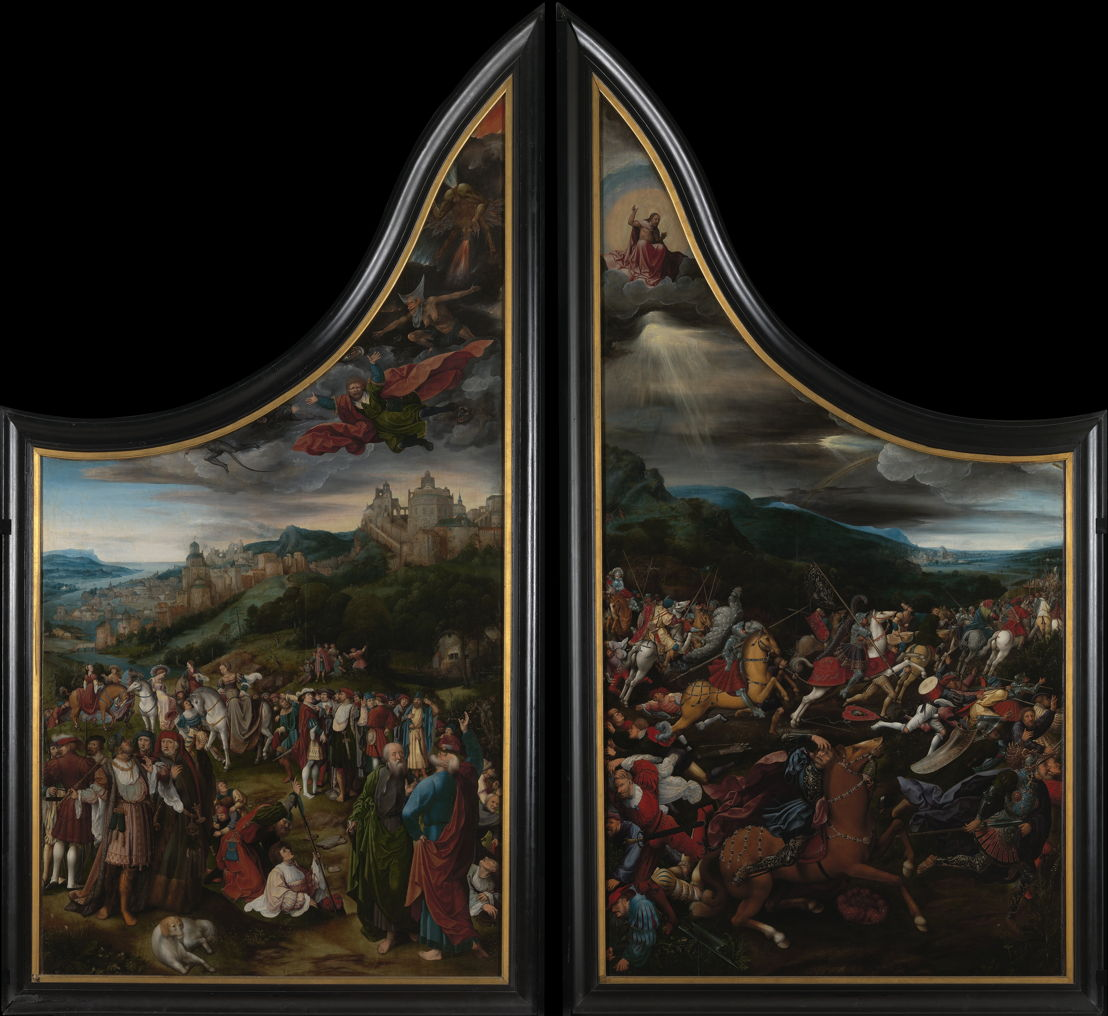 The fall of Simon the Sorcerer & The conversion of paul, Jan Rombouts, c. 1522 © Lukas - Art in Flanders, foto Dominique Provost