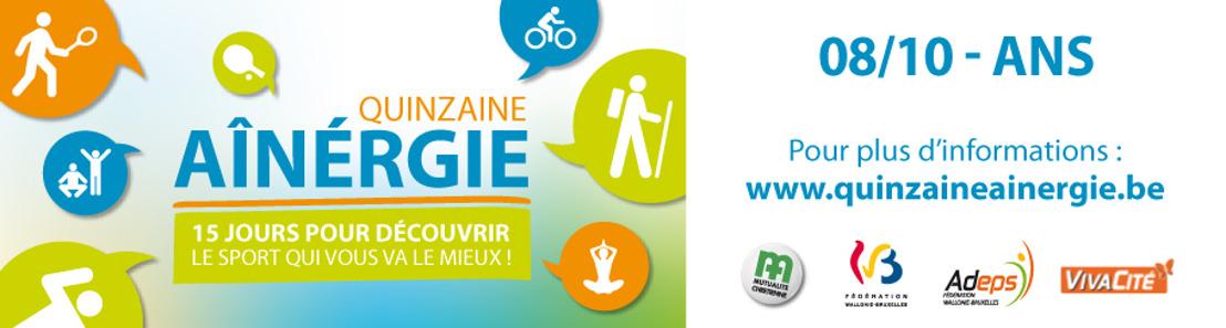 énéoSport propose une journée découverte à Ans le jeudi 8 octobre 2015 de 9h15 à 17h30