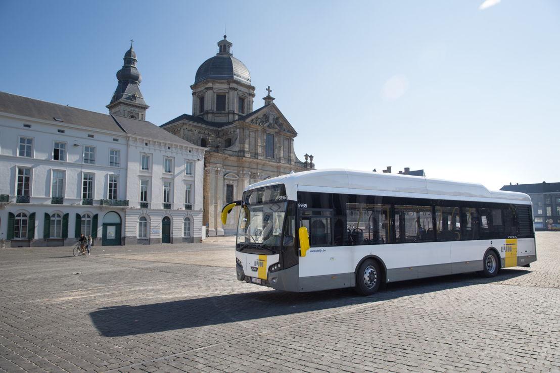 Een hybride bus van VDL (model: Citea).