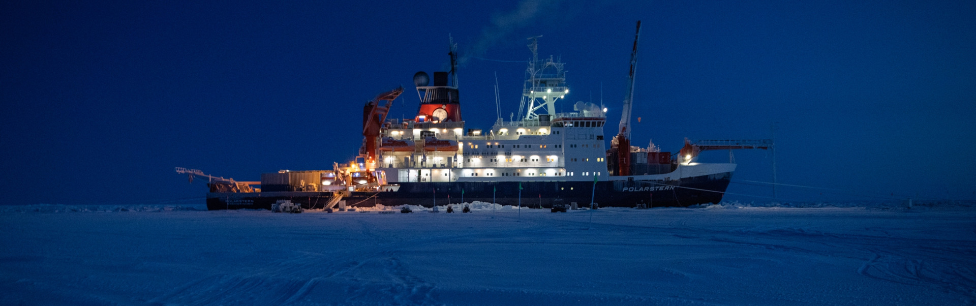 Research expedition to the polar ice cap