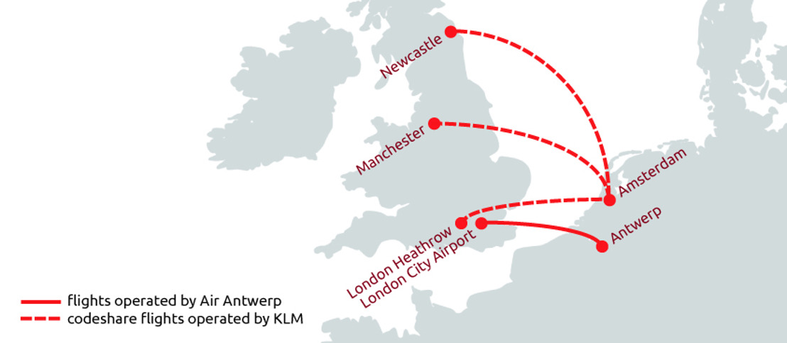 Air Antwerp and KLM enter into codeshare agreement on routes between Amsterdam and the UK