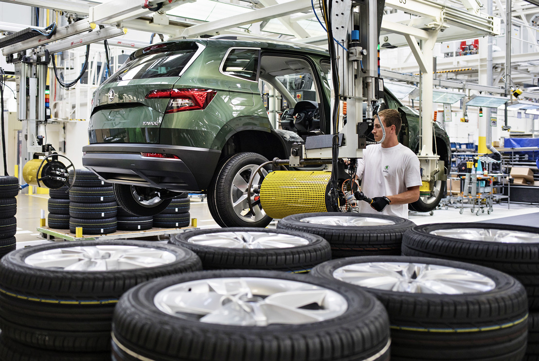 ŠKODA AUTO Kvasiny plant sets new production record in 2018