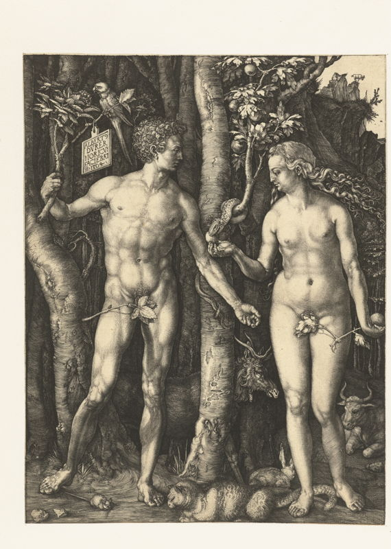 Op zoek naar Utopia © Albrecht Dürer, De Zondeval, Neurenberg, 1504. Amsterdam, Rijksmuseum, Rijksprentenkabinet.