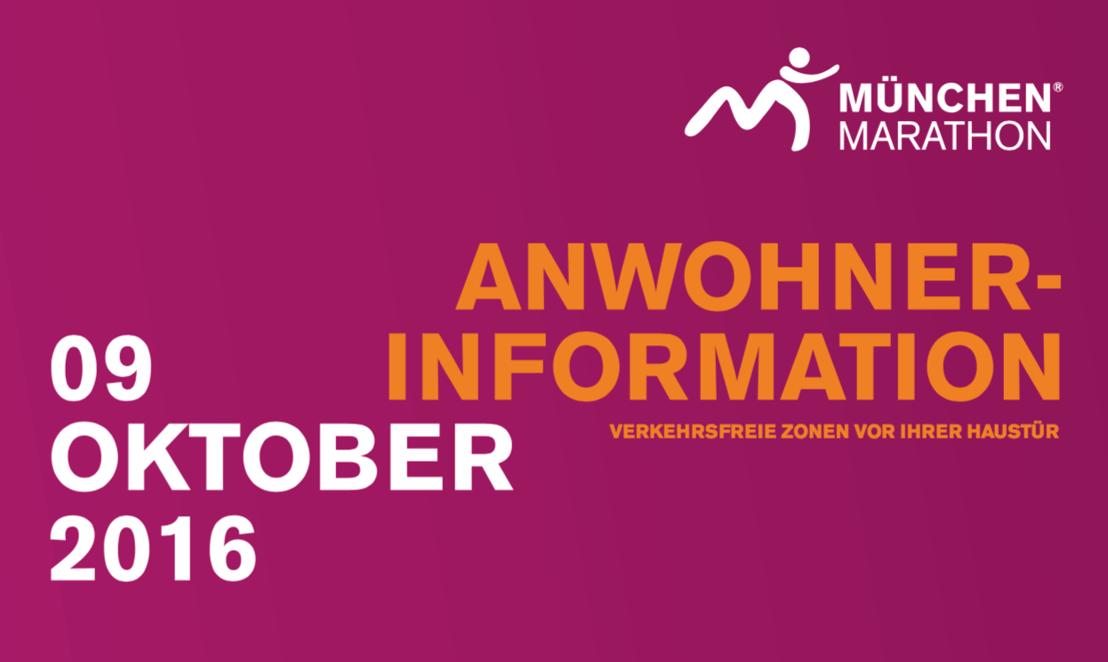 Wichtige Verkehrsinformation für alle Münchner zum  31. MÜNCHEN MARATHON 2016