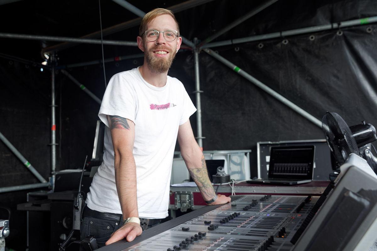 Schon seit einigen Jahren auf Tour dabei: MONO INC.-Tontechniker Sören Lentz