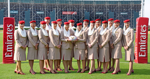 The EK Firebirds are ready to roll ahead of the Emirates Airline Dubai Rugby Sevens