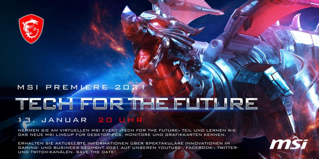 "MSI Digital-Event ""Tech for the Future"" startet am 13. Januar"