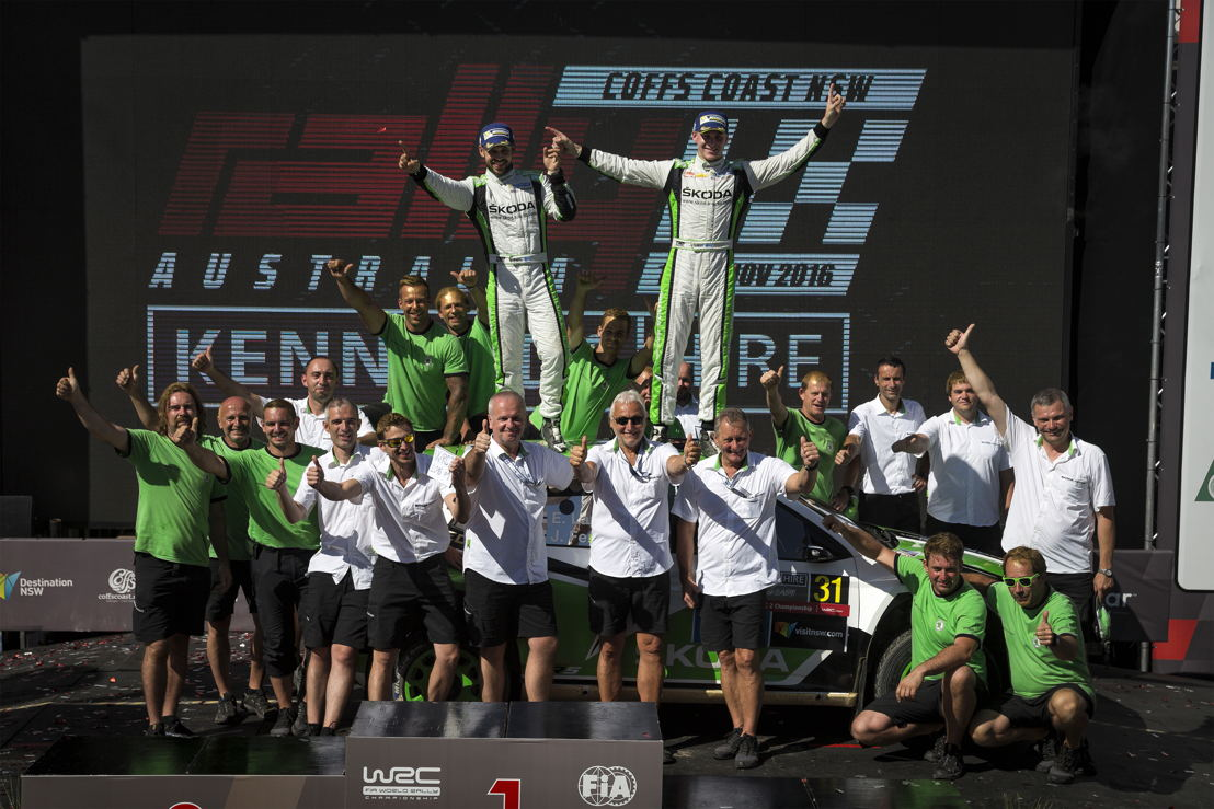 Victory for Esapekka Lappi/Janne Ferm (FIN/FIN) in the Drivers' and Co-Drivers' competition in the FIA World Rally Championship (WRC 2) is a triumph for the entire ŠKODA Motorsport team.