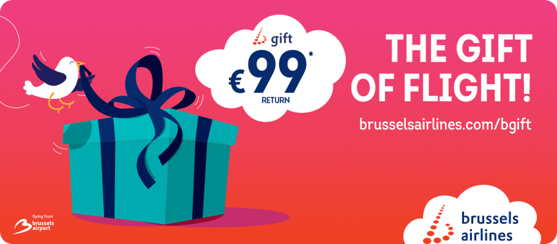 Brussels Airlines relaunches b.gift, the most original holiday present