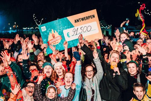 Meer dan 9000 Antwerpenaren lopen 91 500 euro bij elkaar voor de meer dan duizend goede doelen van Music For Life