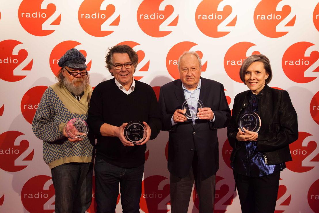 Roland Van Campenhout, Johan Verminnen, Roland Verlooven en Dani Klein (c) VRT - Bart Musschoot