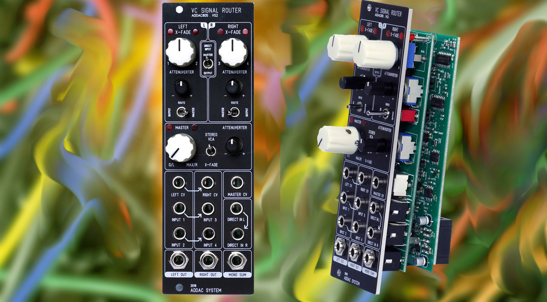 ADDAC System 805 Eurorack Module Offers Four-Quadrant Mixing