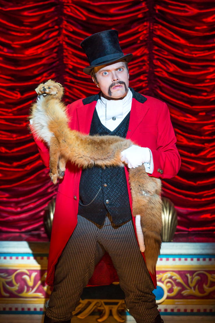 """National Touring Company. James Taylor Odom as Lord Adalbert D'Ysquith in a scene from """"A Gentleman's Guide to Love & Murder."""" Photo credit: Jeremy Daniel."""