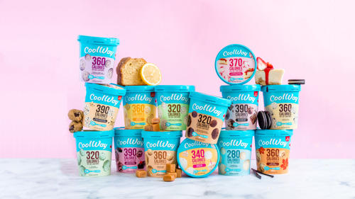 CoolWay's seven new guilt-free ice cream flavours include Birthday Cake, Maple Swirl & Chocolate Chip Cookie Dough