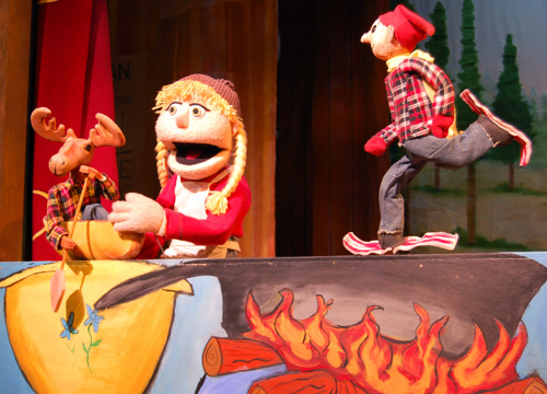 Paul Bunyan and the Tall Tale Medicine Show rolls into town, January 22 – March 10