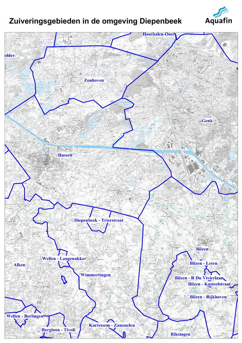 Waar wordt mijn afvalwater gezuiverd: zuiveringsgebieden in de omgeving van Diepenbeek