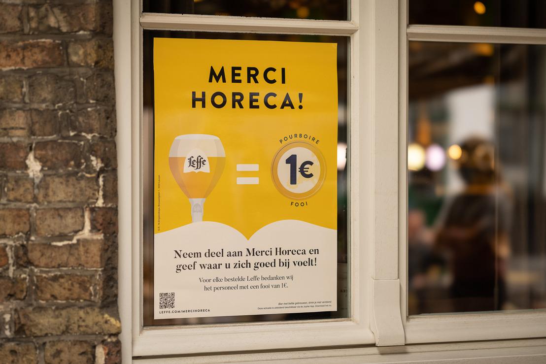 Leffe roept op tot steun voor horecapersoneel met de lancering van 'Merci Horeca'