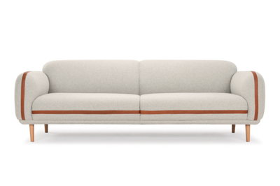 Bailey 3-seater sofa - Andie Stone & Leather Hermes Bronze