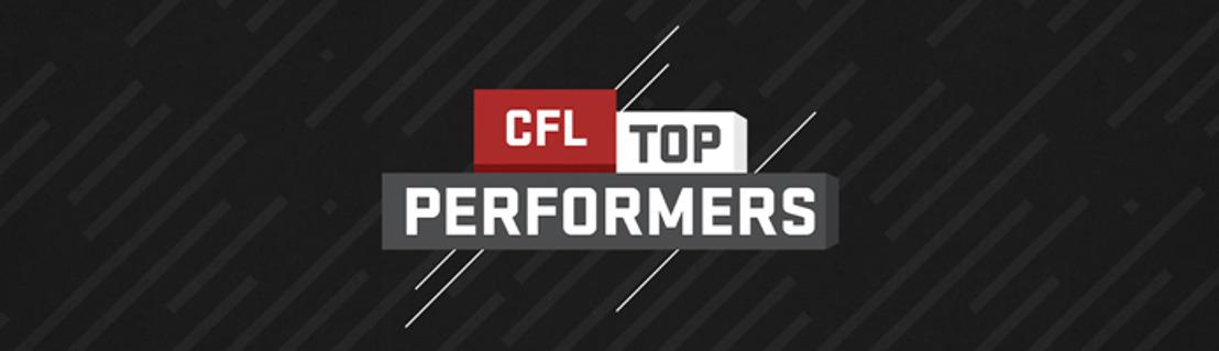 CFL TOP PERFORMERS – WEEK 3