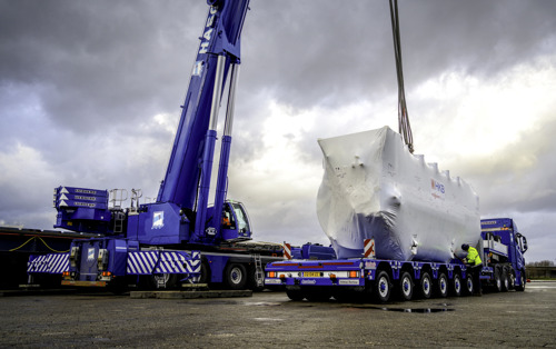 Nooteboom Manoovr, la solution de transport idéale pour la Liebherr LTM 1450-8.1
