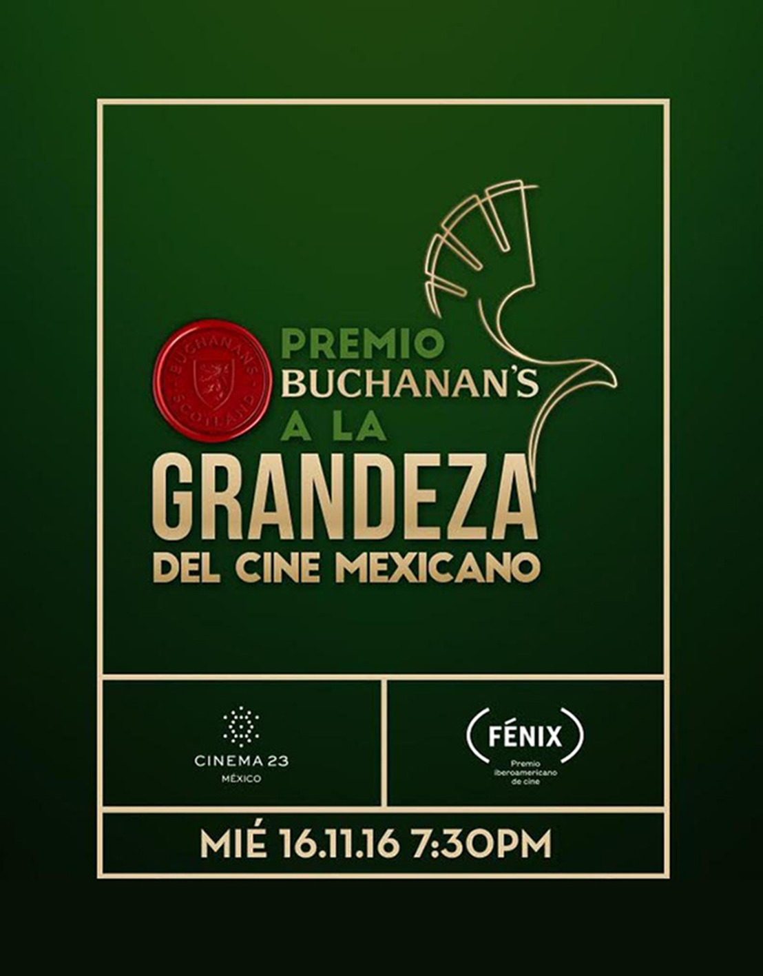 GANADORES PREMIO BUCHANAN'S A LA GRANDEZA DEL CINE MEXICANO 2016