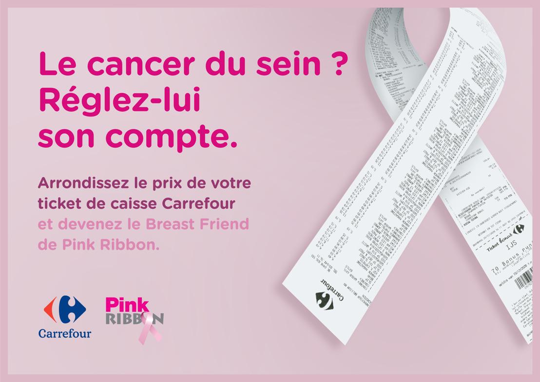 Carrefour encourage l'Arrondi Solidaire au profit de Pink Ribbon