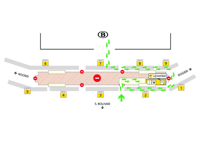 Loketten De Lijn in Brussel-Noord weer open