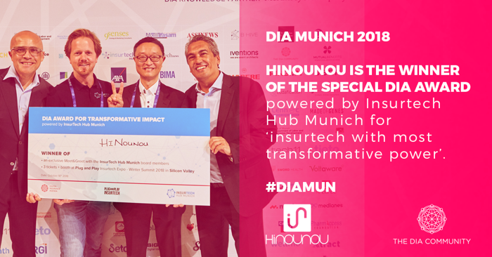 HiNounou wins Digital Insurance Agenda Munich's first Special Award for Most Transformative Impact